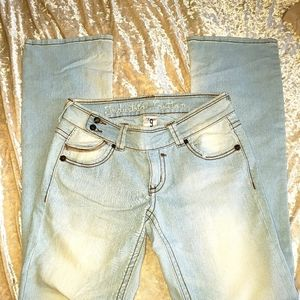Industrial Cotton flare jeans